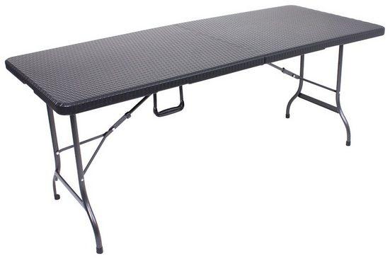 GARDEN PLEASURE Gartentisch »VENTANA«, Kunststoff, klappbar, 180x75 cm, schwarz