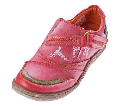 TMA »Damen Leder Halb Schuhe Slipper Sneaker TMA 1364« Schnürschuh Used Look / Antik-Look