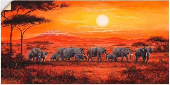 Artland Wandbild »Elefantenherde«, Wildtiere (1 Stück)