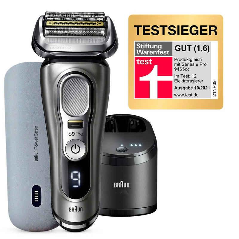 Braun Elektrorasierer Series 9 Pro - 9475cc, Reinigungsstation, Aufsätze: 1, 4+1 Scherkopf mit ProLift Trimmer, PowerCase, 60 Min Laufzeit, Wet&Dry