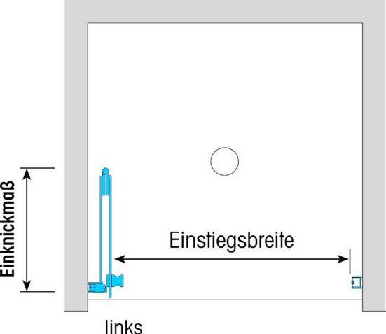 Dusbad Falttür »Vital 1 für Nische«, Einscheibensicherheitsglas, (1-St) Anschlag rechts 120 cm