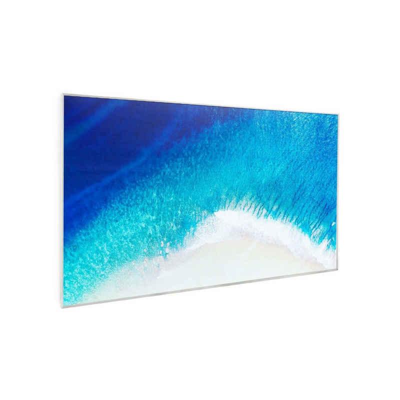 Klarstein Heizkörper »Wonderwall Air Art Strand Infrarotheizung 60x101cm 600W Wandinstallation Fernbedienung weiß«, Energieeffizient: CarbonCrystal Infrared-Technik bietet zu 98% Energie- in Wärmeumwandlung