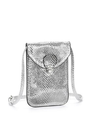 LASCANA Umhängetasche, Minibag, Handytasche im Metalliclook