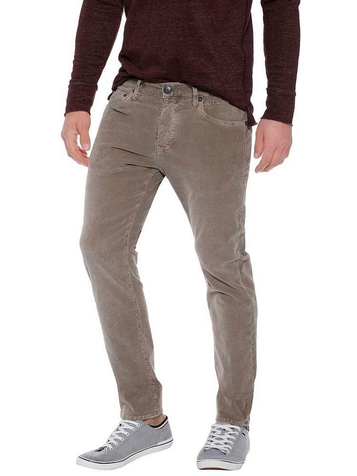 herrlicher -  Cordhose »Tyler Tapered« in Used-Optik