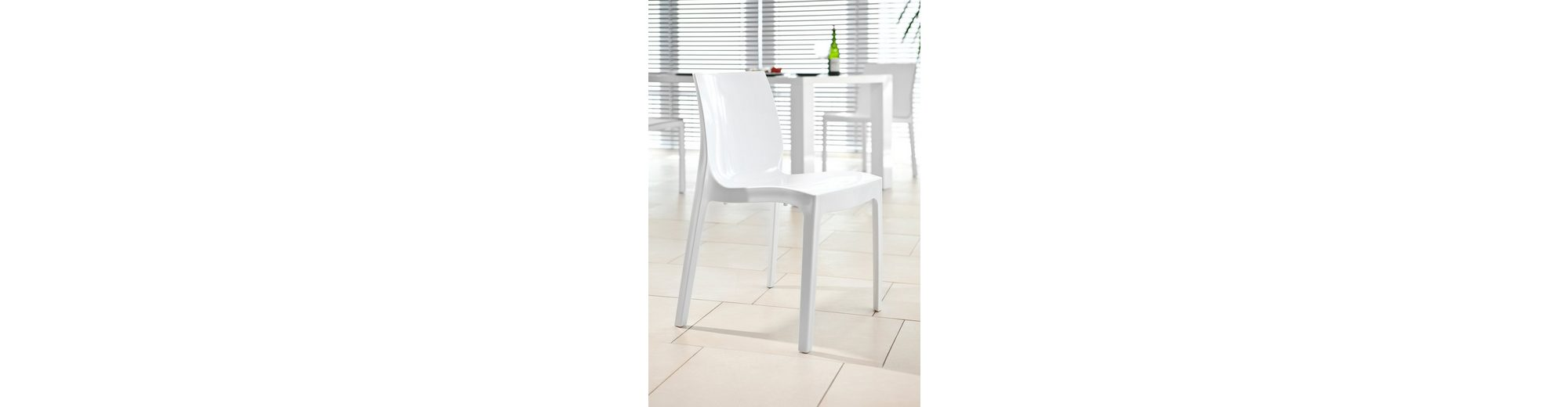 SalesFever Design Stuhl weiß matt »Sari«