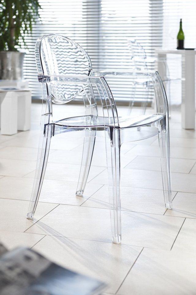 SalesFever Design Stuhl mit Armlehnen »Igloo« in schwarz