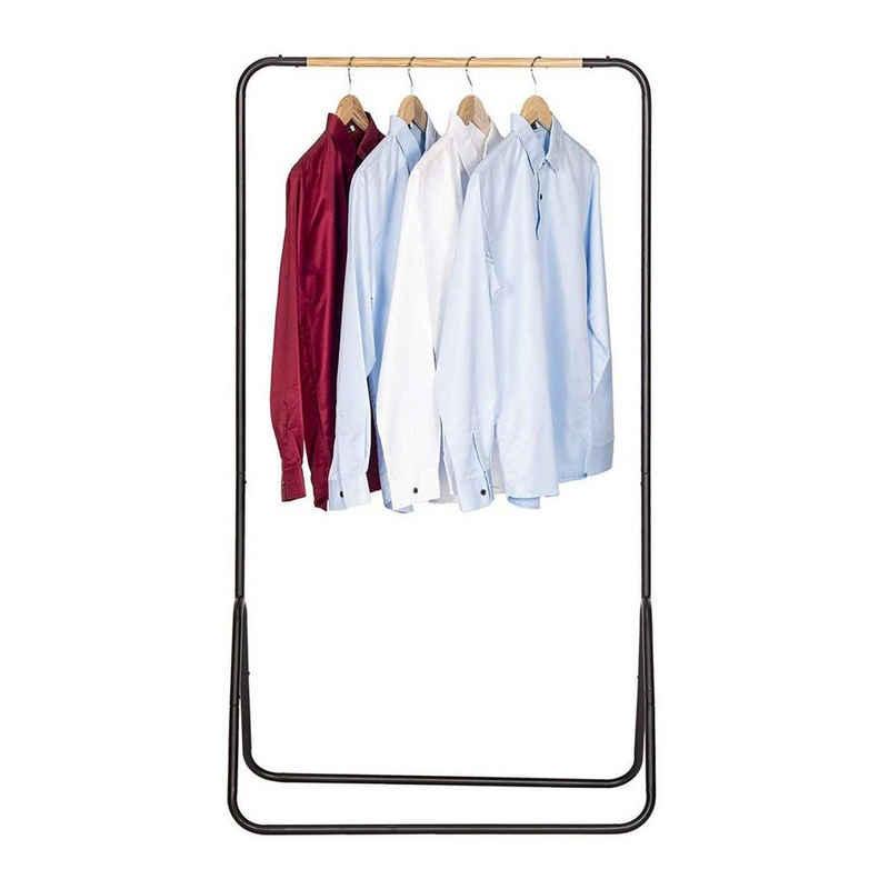 Woltu Kleiderständer, Kleiderständer Garderobenständer Metall Schwarz ca. 79x43x145cm(BxTxH)