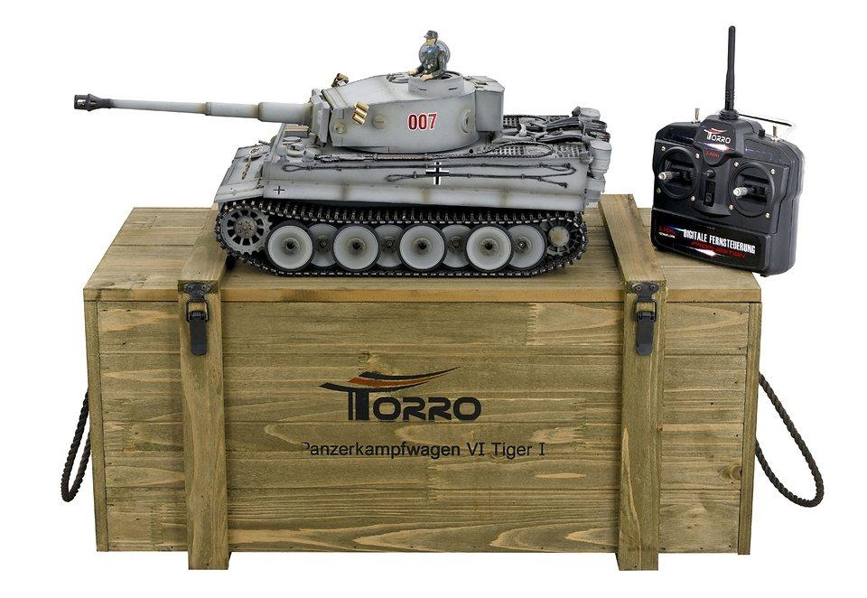 RC Panzer, Torro, »PzKpfW VI Tiger I mit IR-Schussfunktion« in grau