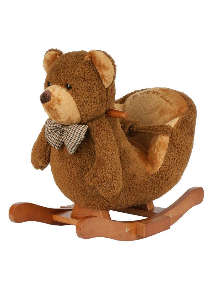 Schaukeltier, Torro, »Teddy mit Musik« in braun