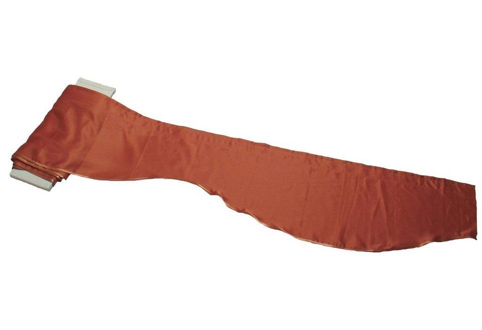 Gardinenstoff, »Vorau«, Bogen-Querbehang in lachs