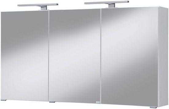HELD MÖBEL Spiegelschrank »Malibu« Breite 120 cm, mit Spiegeltüren und Softclose-Funktion