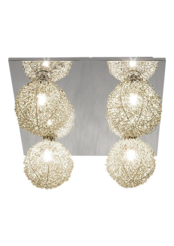 Halogen- / LED - Deckenleuchte, Brilliant Leuchten, »GABANO« (4flg.)