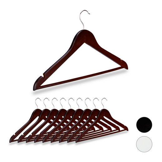 relaxdays Kleiderbügel »Kleiderbügel Holz 10er Set«