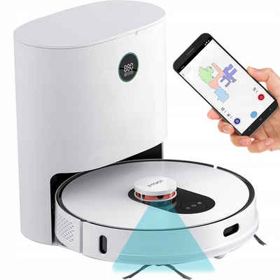 Roidmi Nass-Trocken-Saugroboter EVE Plus, 50 Watt, mit Beutel, Kompatibel mit Google Assistant&Amazon Alexa,Smart Saugroboter