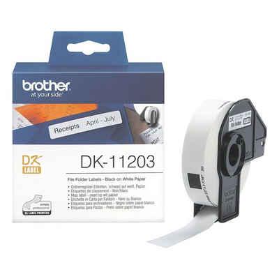 Brother Thermorolle »DK11203«, 300 Ordner-Etiketten B/L 17/87 mm