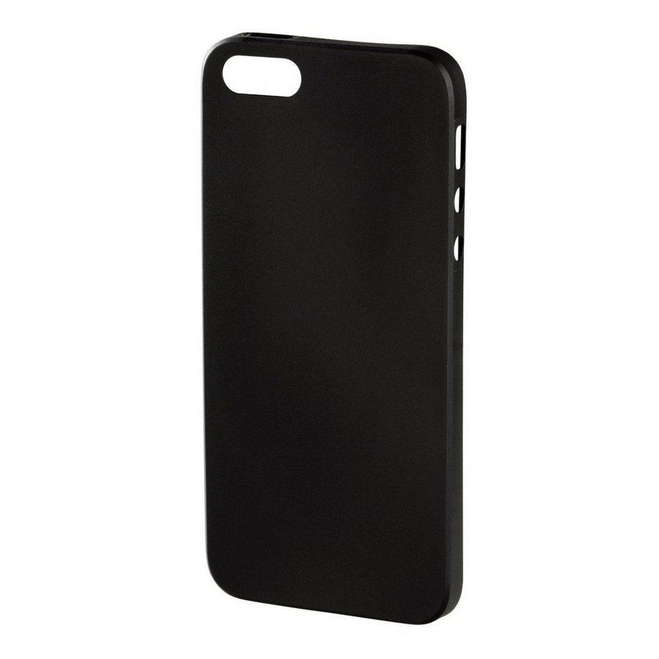 Hama Handy-Cover Ultra Slim für Apple iPhone 5/5s/SE, Schwarz in Schwarz