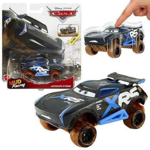 Mattel® Spielzeug-Auto »Disney Cars Xtreme Racing Schlammrennen Jackson Storm«, Aus der Xtreme Racing Serie