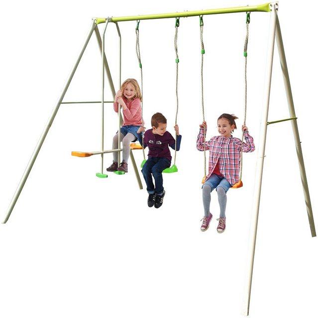 Empfehlung: Drei Kinder Doppelschaukel aus Metall  von YARDMASTER*