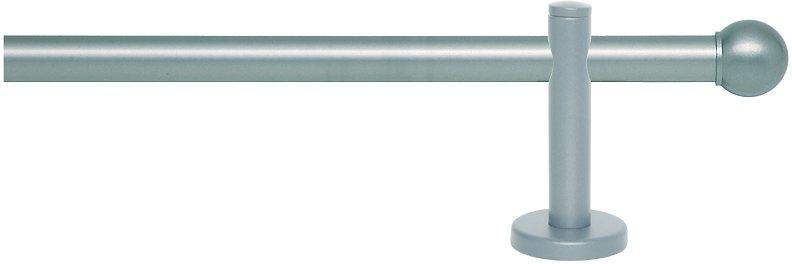 Gardinenstange, Indeko, »Piri«, 1-läufig, nach Maß, ø 16 mm in sterlingsilber