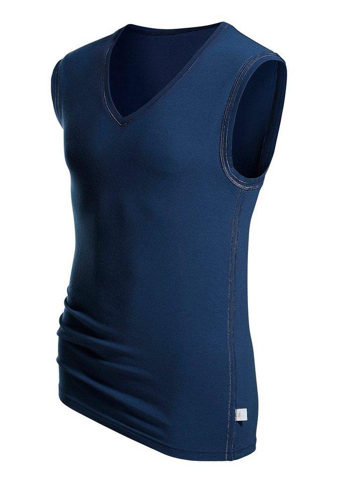 s.Oliver RED LABEL Bodywear V-Muscleshirt Markenwäsche in perfekter Passform weiche Modalqualität in blau