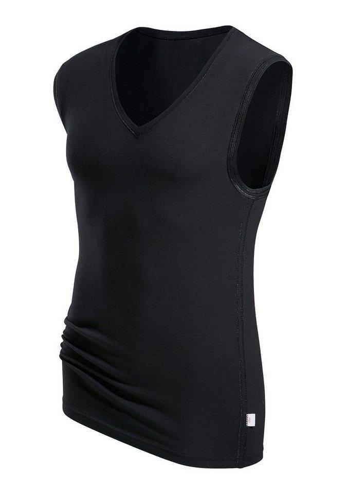 s.Oliver RED LABEL Bodywear V-Muscleshirt Markenwäsche in perfekter Passform weiche Modalqualität in schwarz
