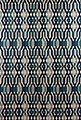 Vorhang »SCHÖNER LEBEN. Vorhang Vorhangschal mit Smok-Schlaufenband Retro-Linien blau 245cm oder Wunschlänge«, SCHÖNER LEBEN., (1 Stück), Bild 9