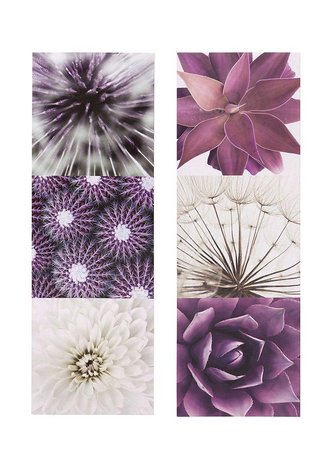 Bild »Purple Garden«, Blumen, 2tlg.