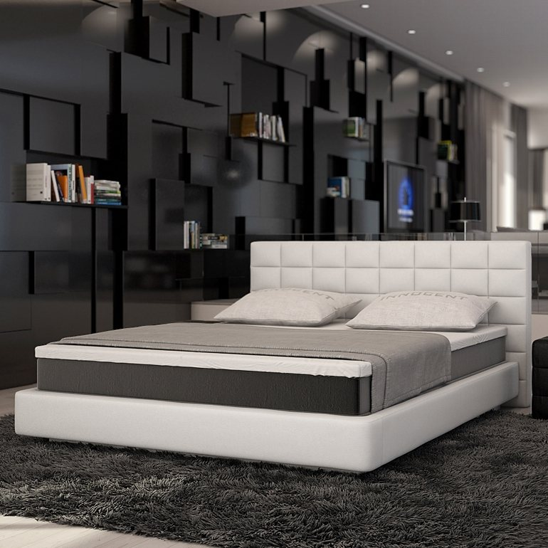 innocent boxspringbett aus kunstleder wei kingston online kaufen otto. Black Bedroom Furniture Sets. Home Design Ideas