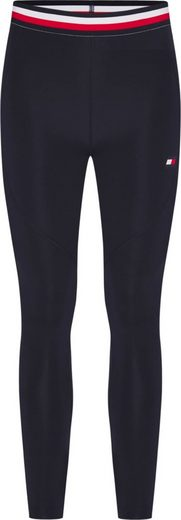 TOMMY SPORT Leggings »FULL LENGTH REVEAL LEGGING« mit Elastikbündchen in den typischen Tommy Farben