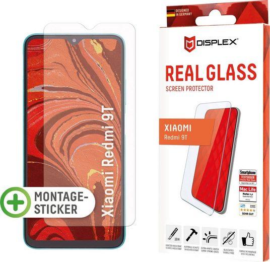 Displex »DISPLEX Real Glass Panzerglas für Xiaomi Redmi 9T (6,5), 10H Tempered Glass, mit Montagesticker, 2D« für Xiaomi Redmi 9T, Displayschutzglas, 1 Stück