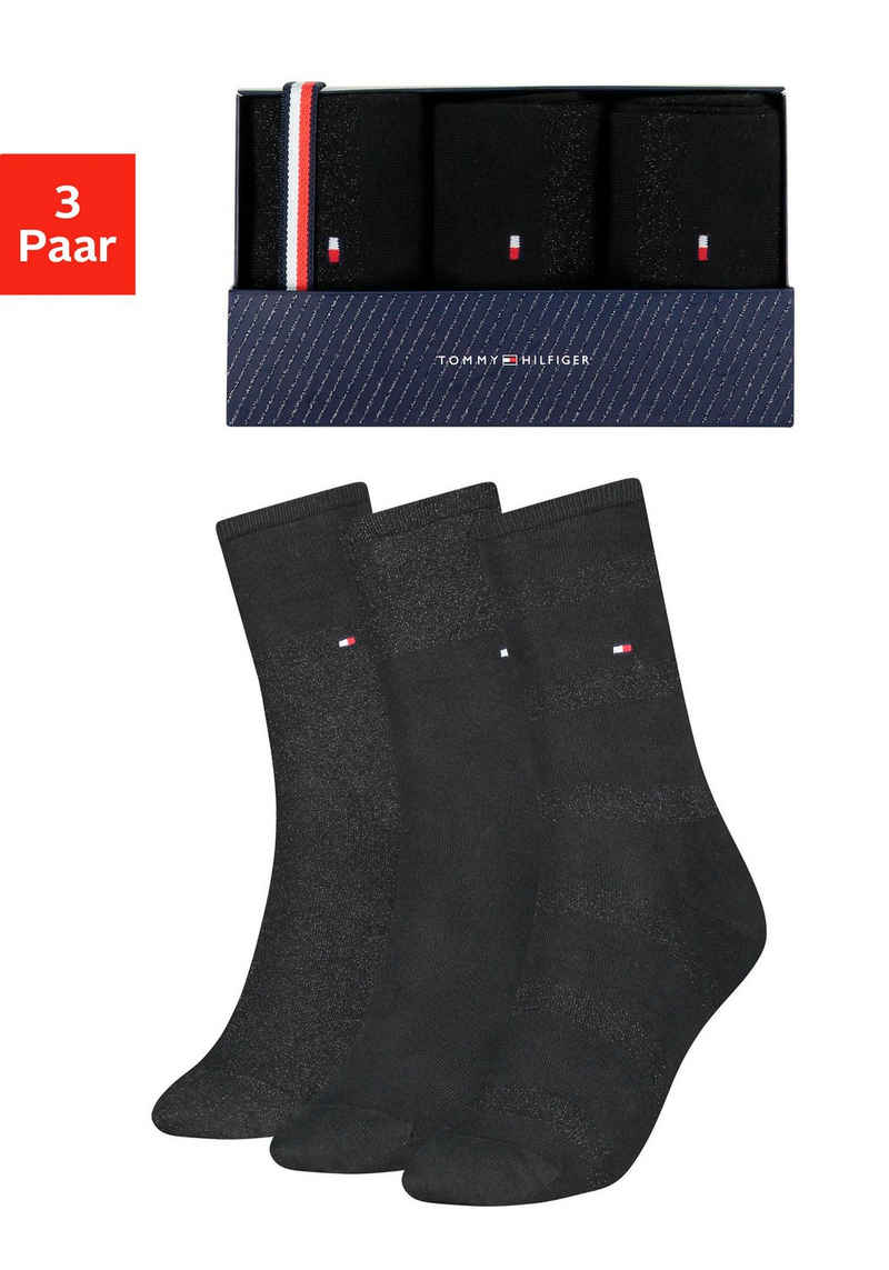 Tommy Hilfiger Socken (Box) mit glitzernden Fäden