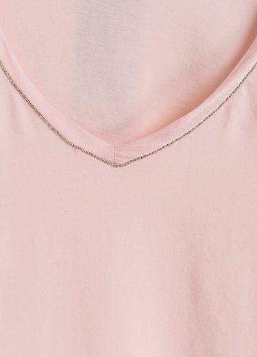MARC AUREL T-Shirt mit Seidenkante