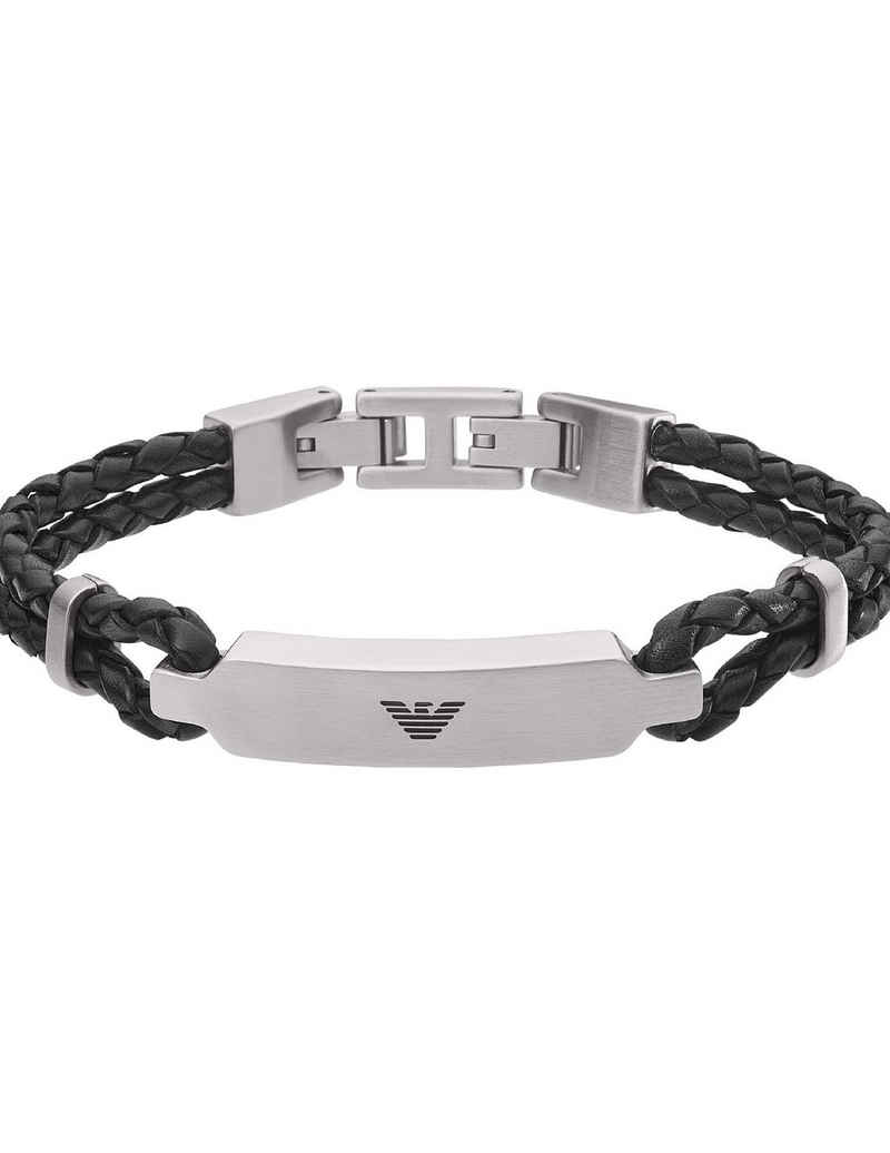 Emporio Armani Armband »Emporio Armani Armband EGS2719040 Edelstahl, Leder«