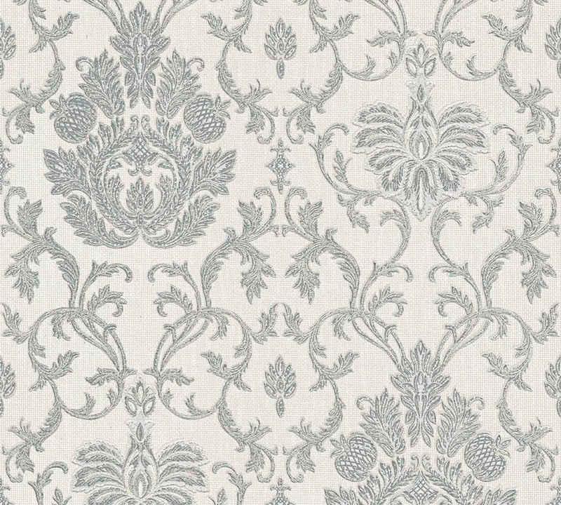 living walls Strukturtapete »Belle Epoque«, strukturiert, ornamental, gemustert, floral, glänzend, metallic, (1 St), strukturiert
