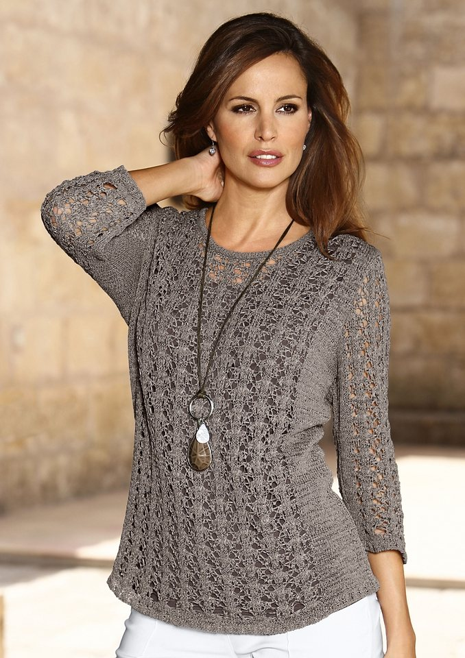 Pullover in taupe