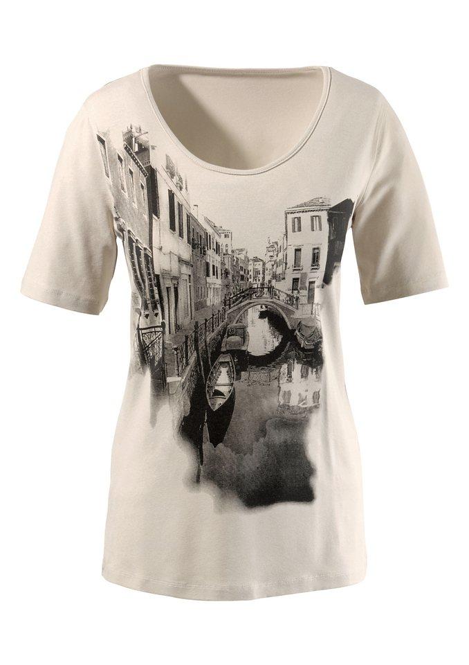 Ambria Shirt mit Druckmotiv im Vorderteil in beige