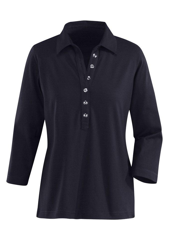 Collection L. Poloshirt in PUREWEAR-Qualität in schwarz