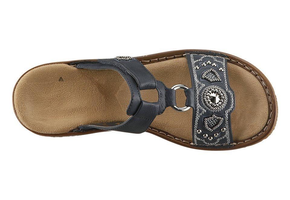 Rieker Pantolette mit weicher Innensohle in jeansblau