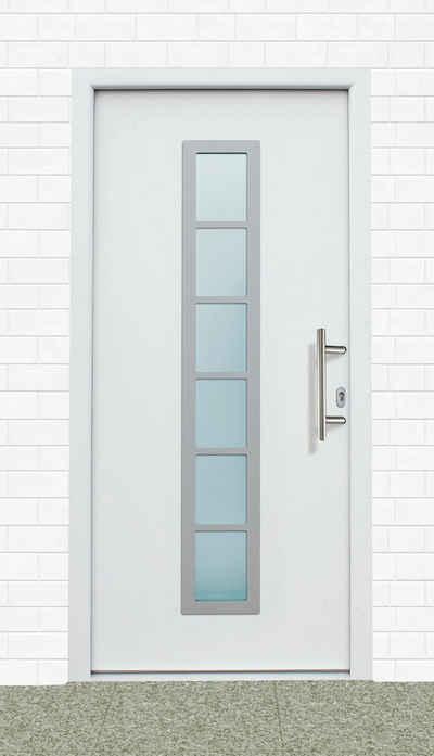 KM Zaun Haustür »A04«, BxH: 98x198 cm, weiß, in 2 Varianten