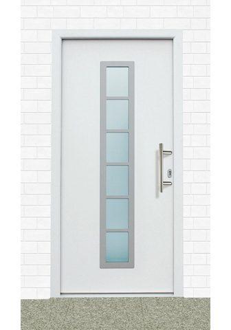 KM Zaun Haustür »A04« BxH: 98x198 cm weiß in 2...