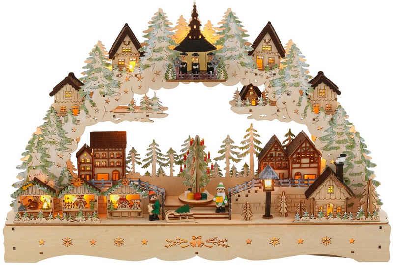 my home Schwibbogen »LED Weihnachtsleuchter mit drehendem Baum und Musik«, Breite ca. 57 cm