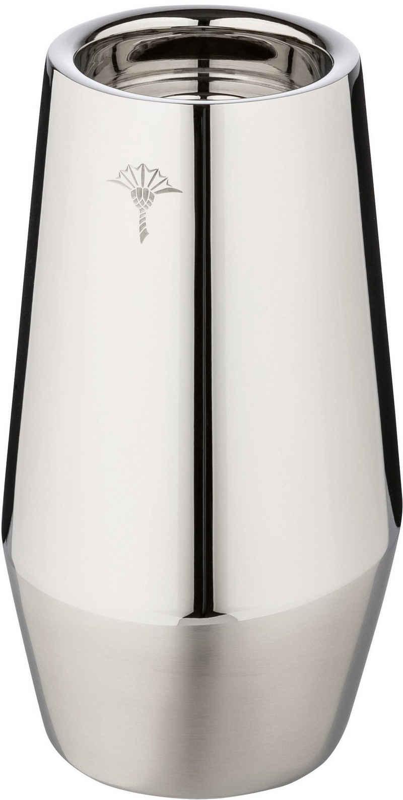 Joop! Kerzenhalter »METAL LINE« (1 Stück), Aus 14/1-Edelstahl in glänzender und satinierter Optik mit einzelner Kornblume als Dekor