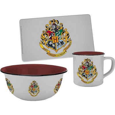 Geda Frühstücks-Set »Geschirrset Harry Potter mit Hogwarts Wappen,«