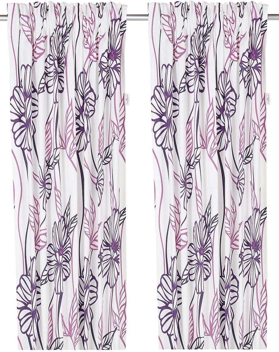 Vorhang, Tom Tailor, »Big Flowers«, mit Klettband (1 Stück)