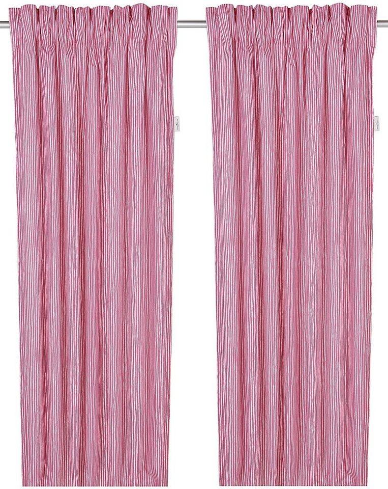 Vorhang, Tom Tailor, »Painted Stripes«, mit Klettband (1 Stück) in rosa