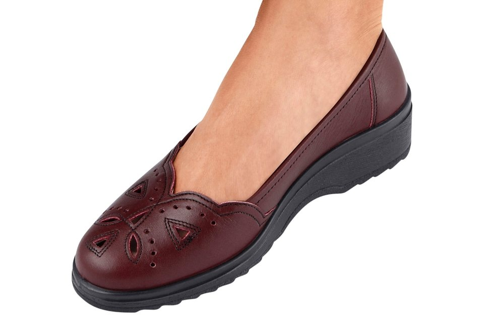 Alpina Slipper mit flexibler PU-Laufsohle in bordeaux