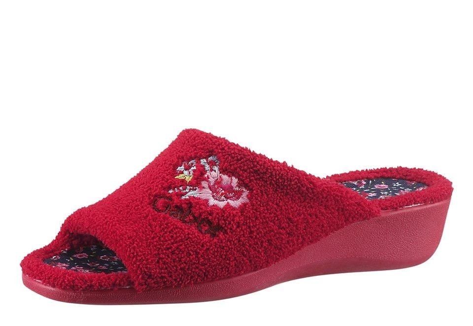 Gabor Pantolette mit Synthetik-Laufsohle in rot