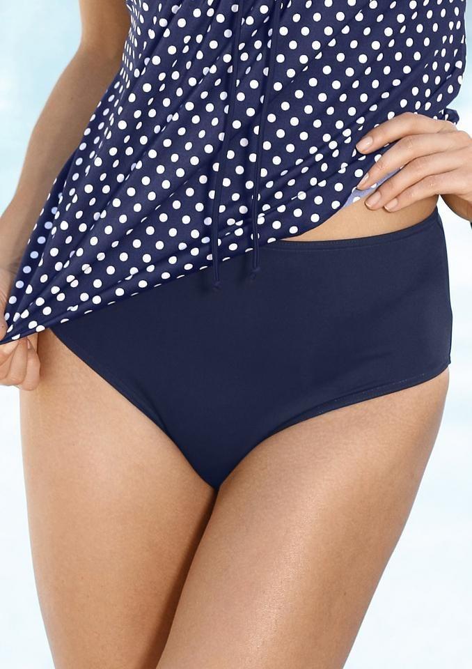 Unifarbener Bikini-Slip, Pola Neumann in marine