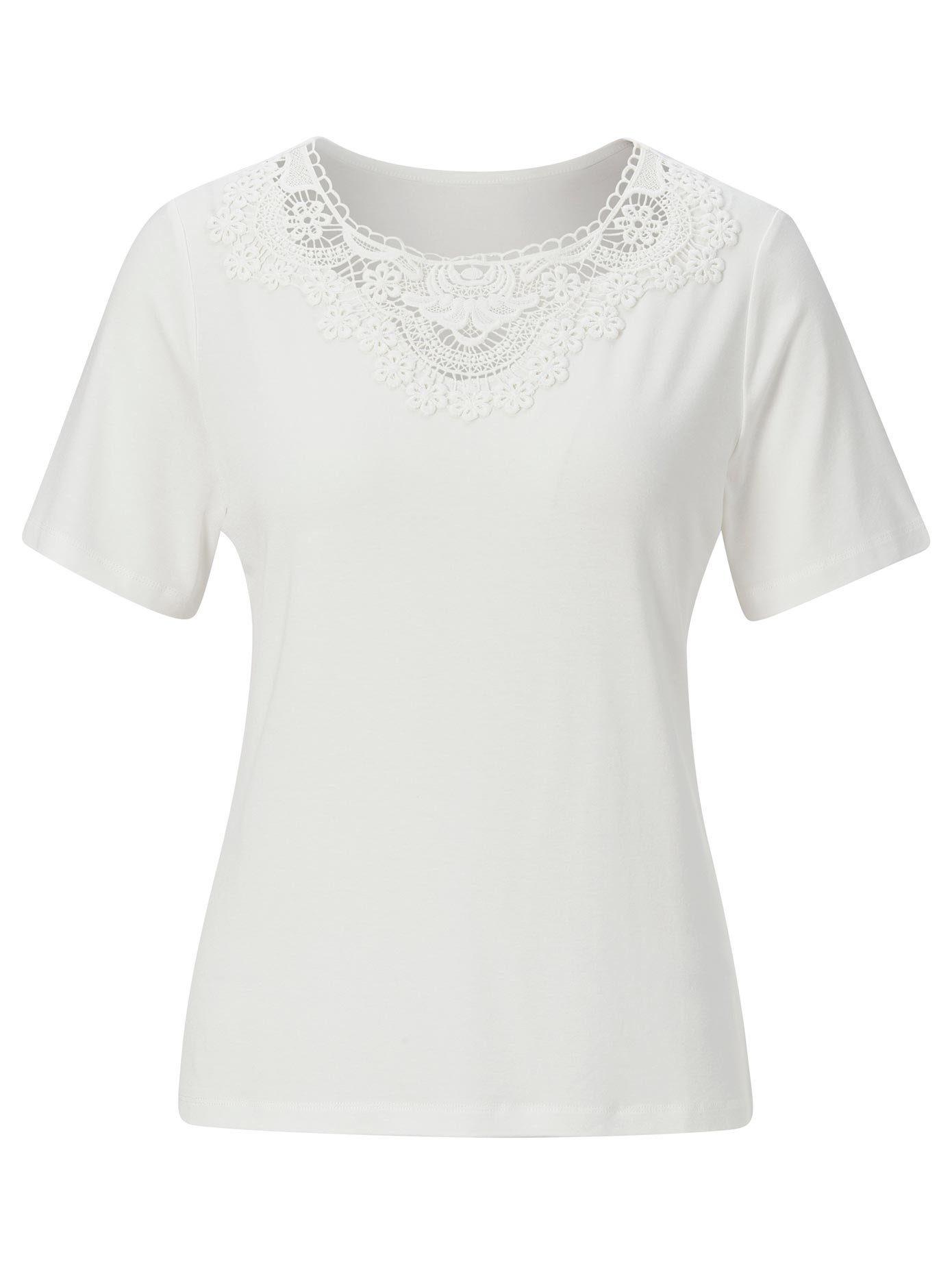 Lady Spitzenshirt, Viskose-qualität Online Kaufen
