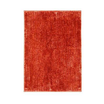 Badematte »Coral Melone Pink« casa pura, Höhe 20 mm, Chenille-Struktur, Maschinenfest